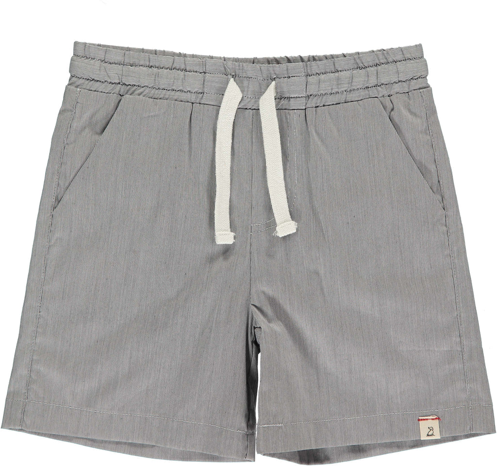 Grey Micro Stripe Surf Shorts
