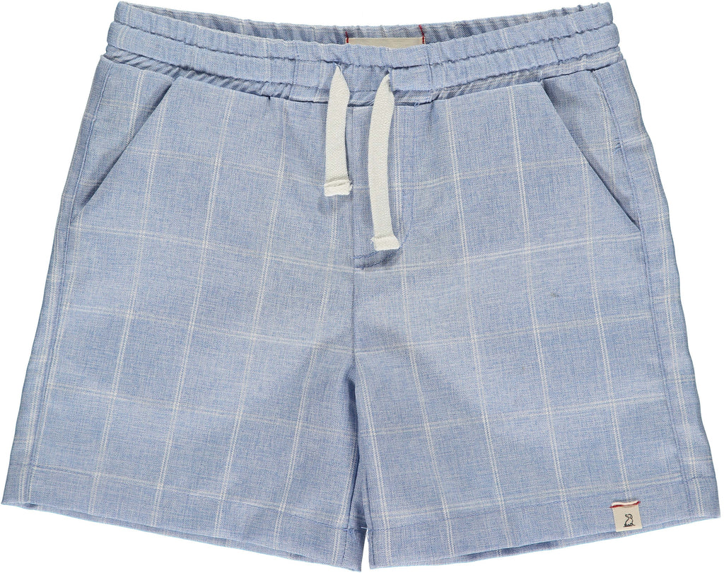 Blue Grid Swim Shorts