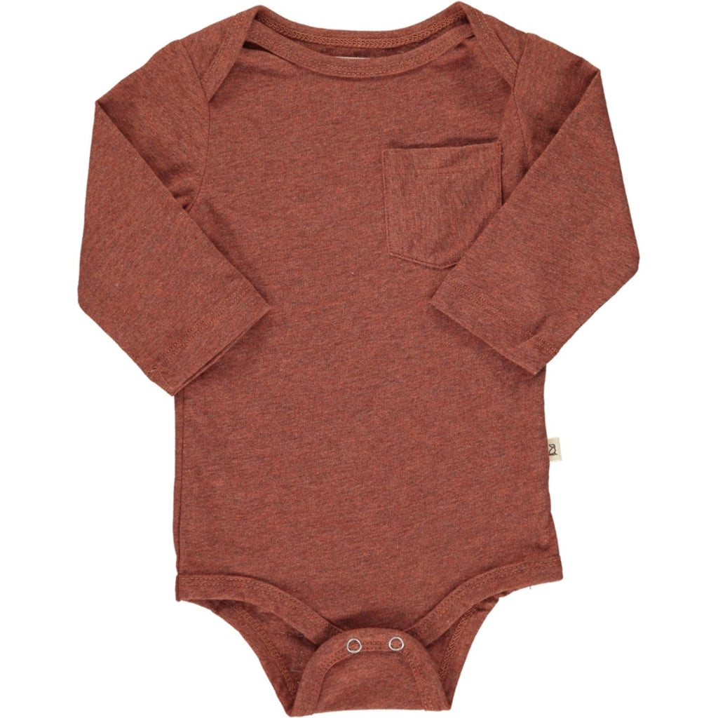 Rust Long Sleeve Onesie