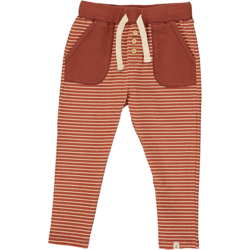 Rust Striped Jog Pants