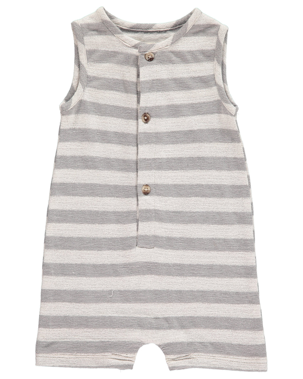 Grey Striped Jersey Playsuit