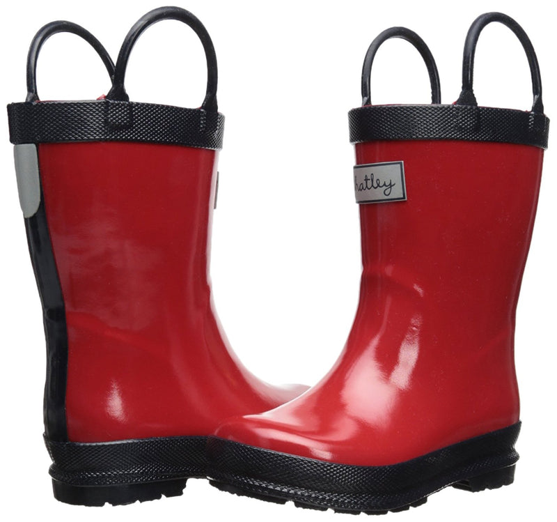 Hatley Red & Navy Rain Boots