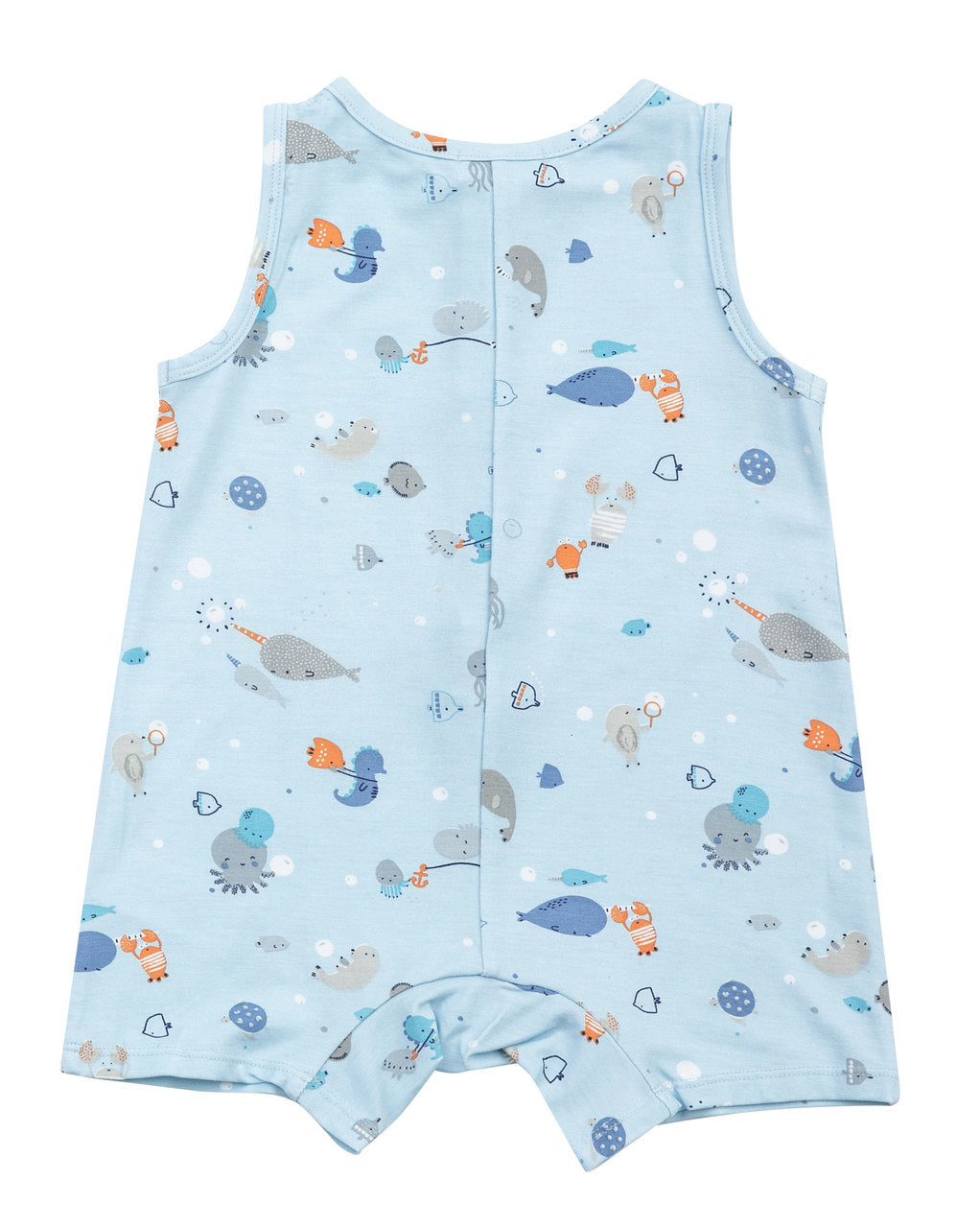 Happy Ocean Sleeveless Shortie Romper
