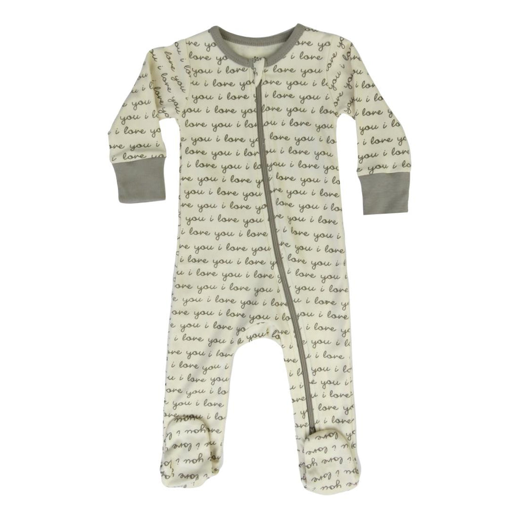 I Love You Organic Cotton Footie