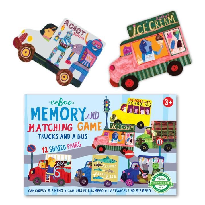 Trucks & a Bus - Little Matching Game