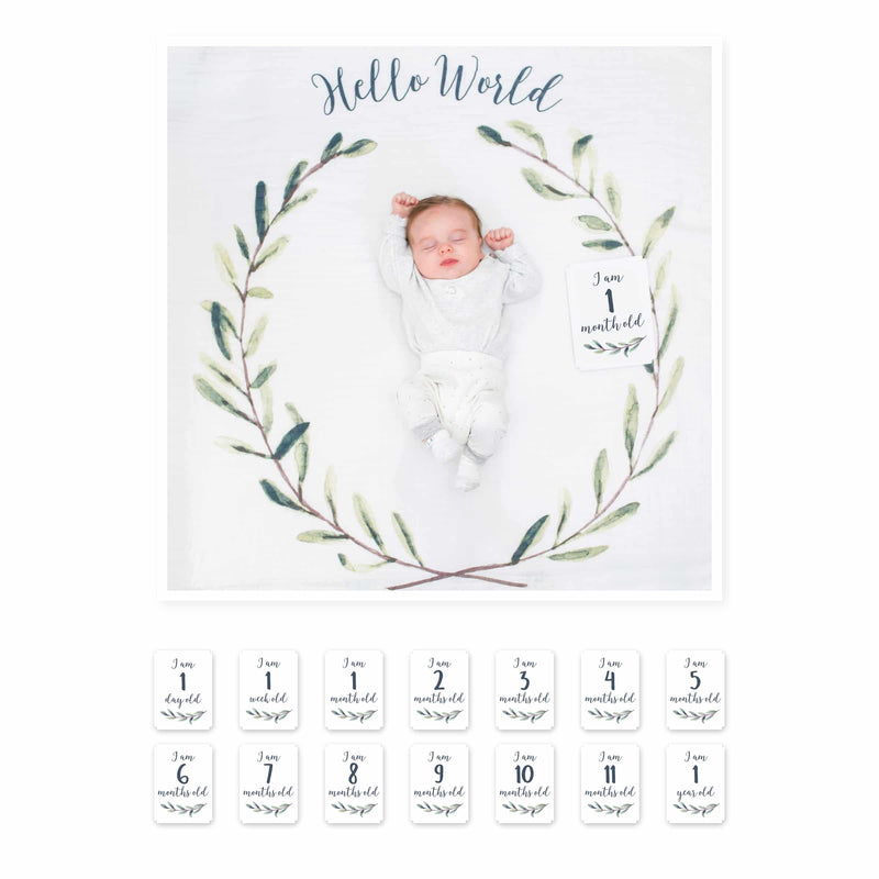 """Hello World"" Blanket & Card Set"