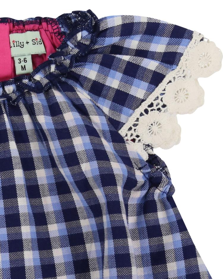 Woven Check Baby Dress