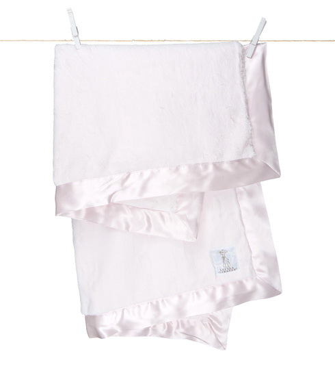 Pink Luxe Blanket with Satin Trim by Little Giraffe