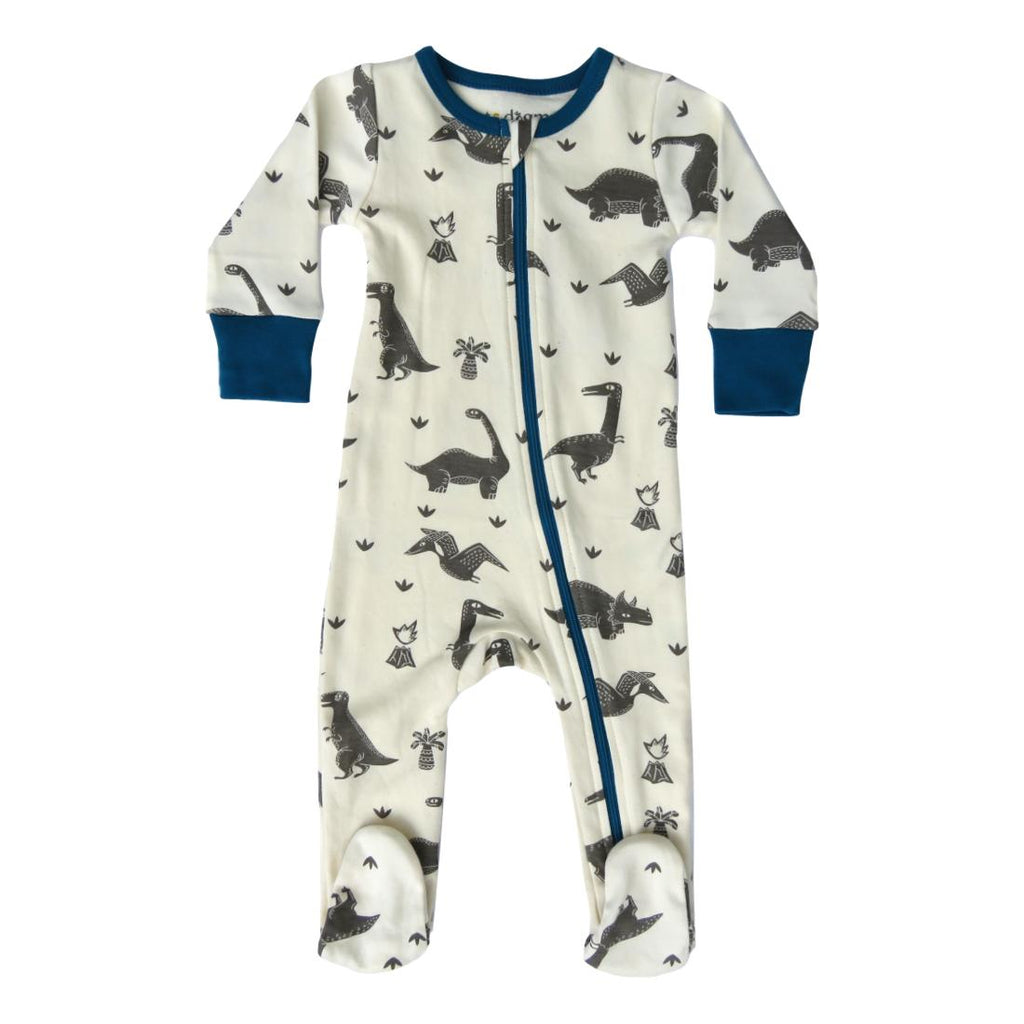 Lagoon Dinos Organic Cotton Footie