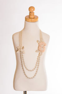 Double Rosette Beaded Necklace by ML Fashions Inc.