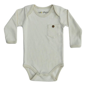 Natural Long Sleeve Organic Bodysuit