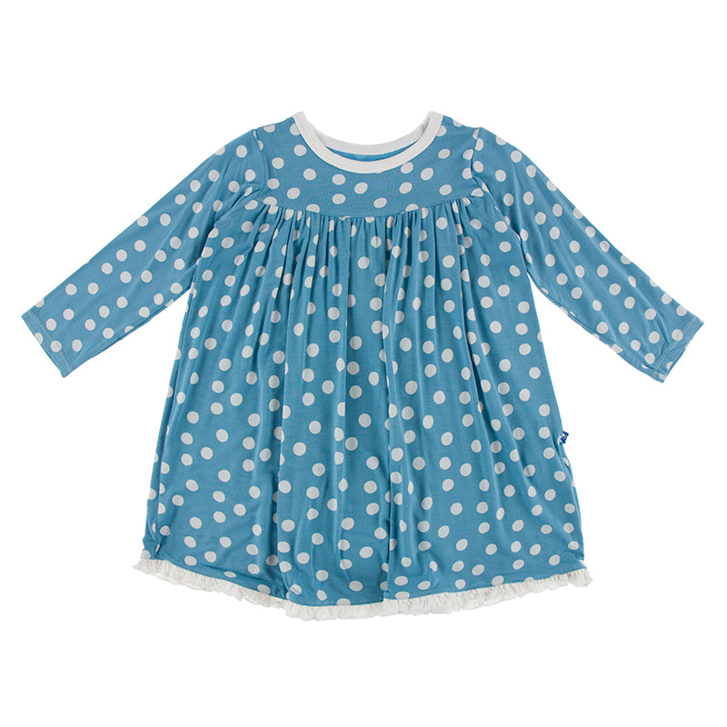 Classic Swing Dress - Blue Moon Snow Balls