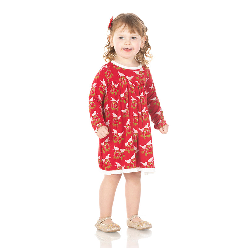 Classic Swing Dress - Crimson Kissing Birds
