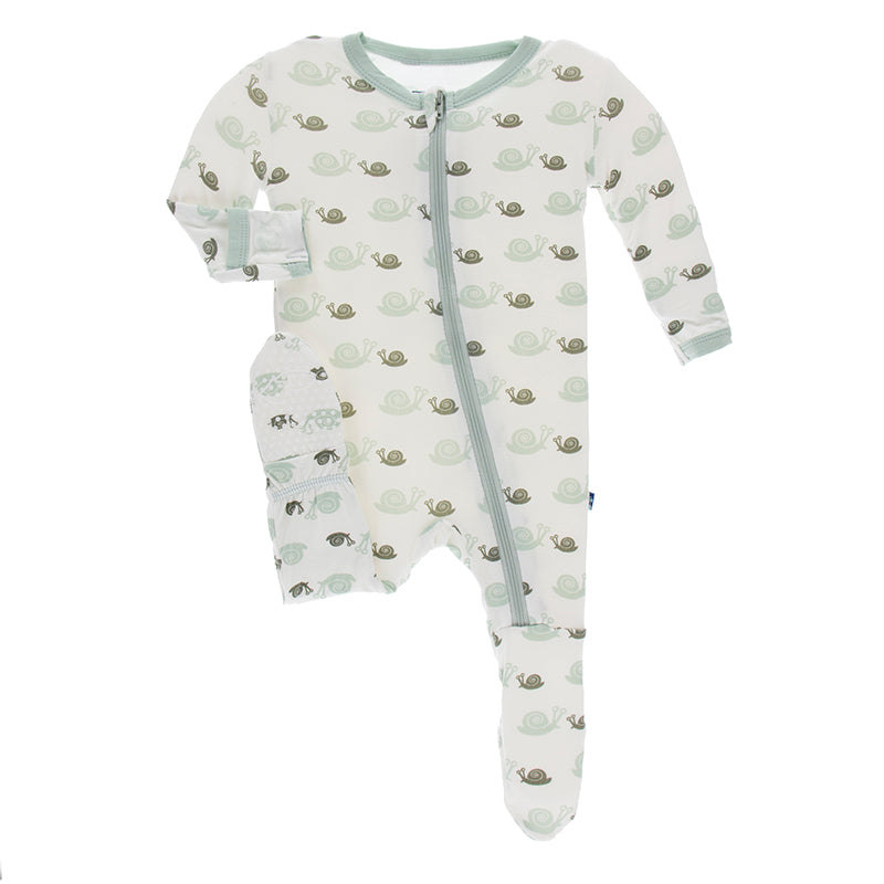 kickee pants biology zoology natural snails print