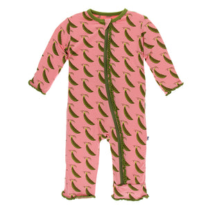 Strawberry Sweet Peas Coverall
