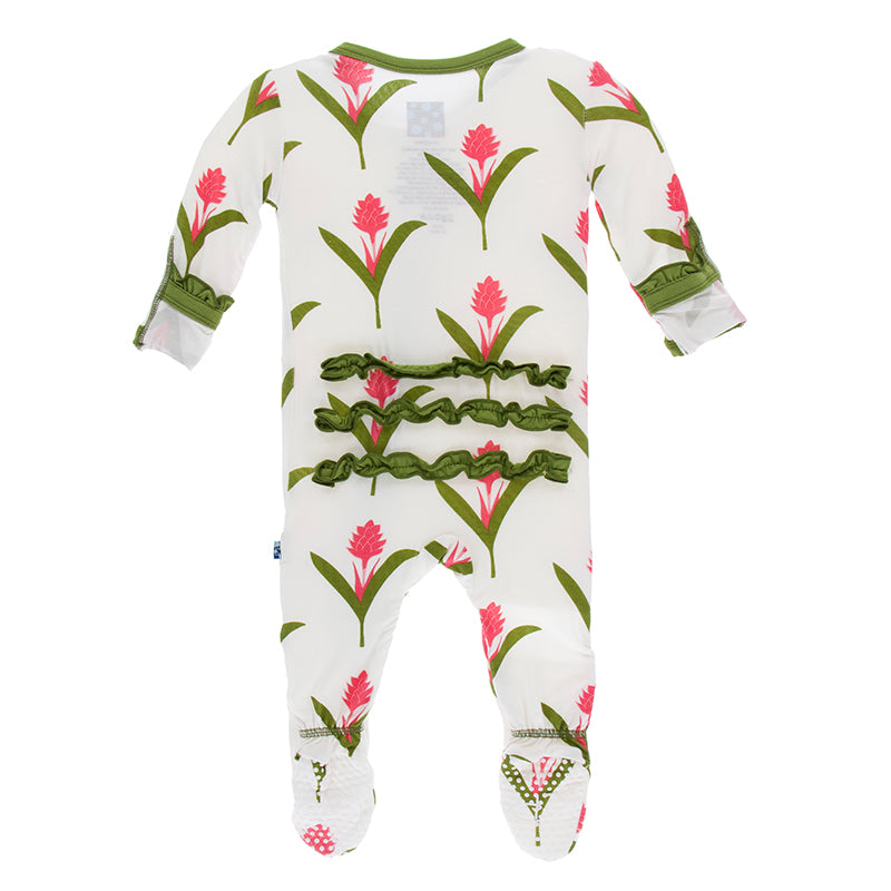 Classic Ruffle Ginger Flower Footie