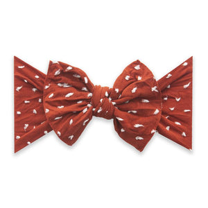 Sienna Dot Baby Bling Patterned Knot