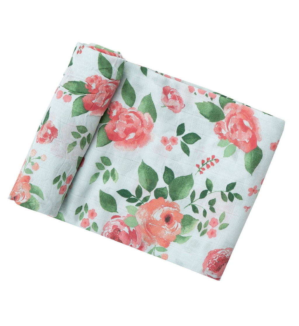 Rose Garden Swaddle Blanket