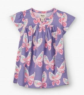 Decorative Butterflies Baby Puff Dress