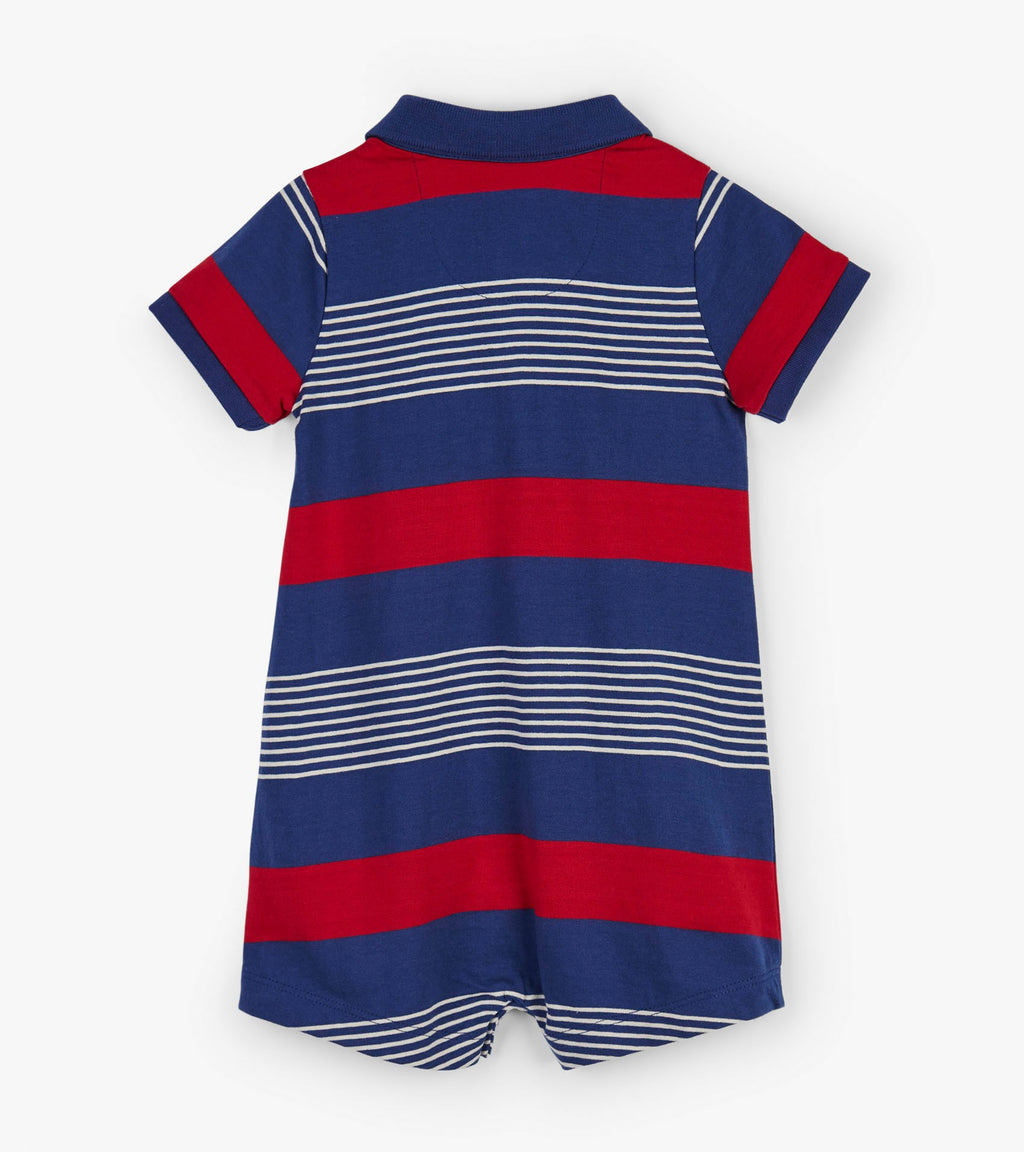 Navy Stripes Baby Romper