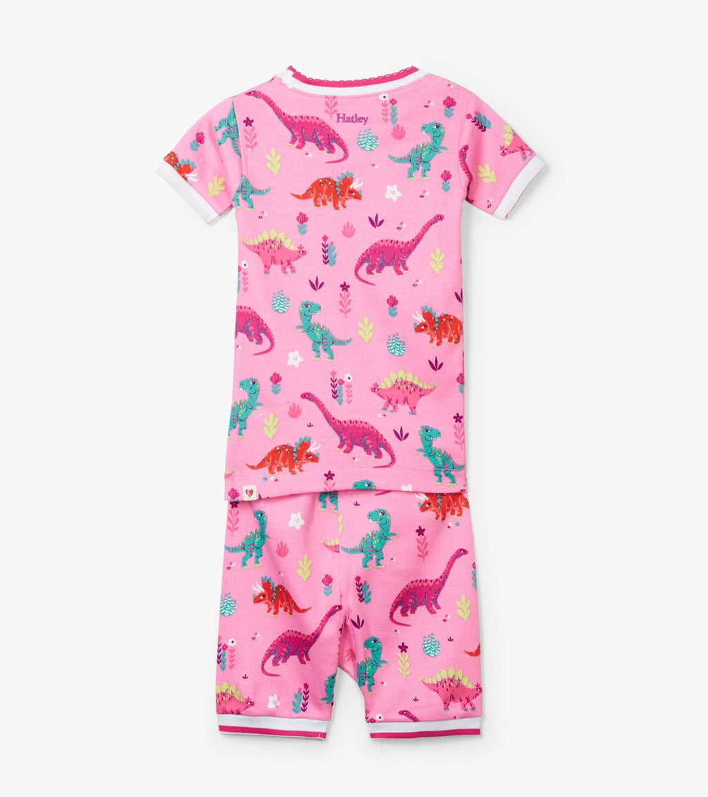 Darling Dinos Organic Cotton Short Pajama Set