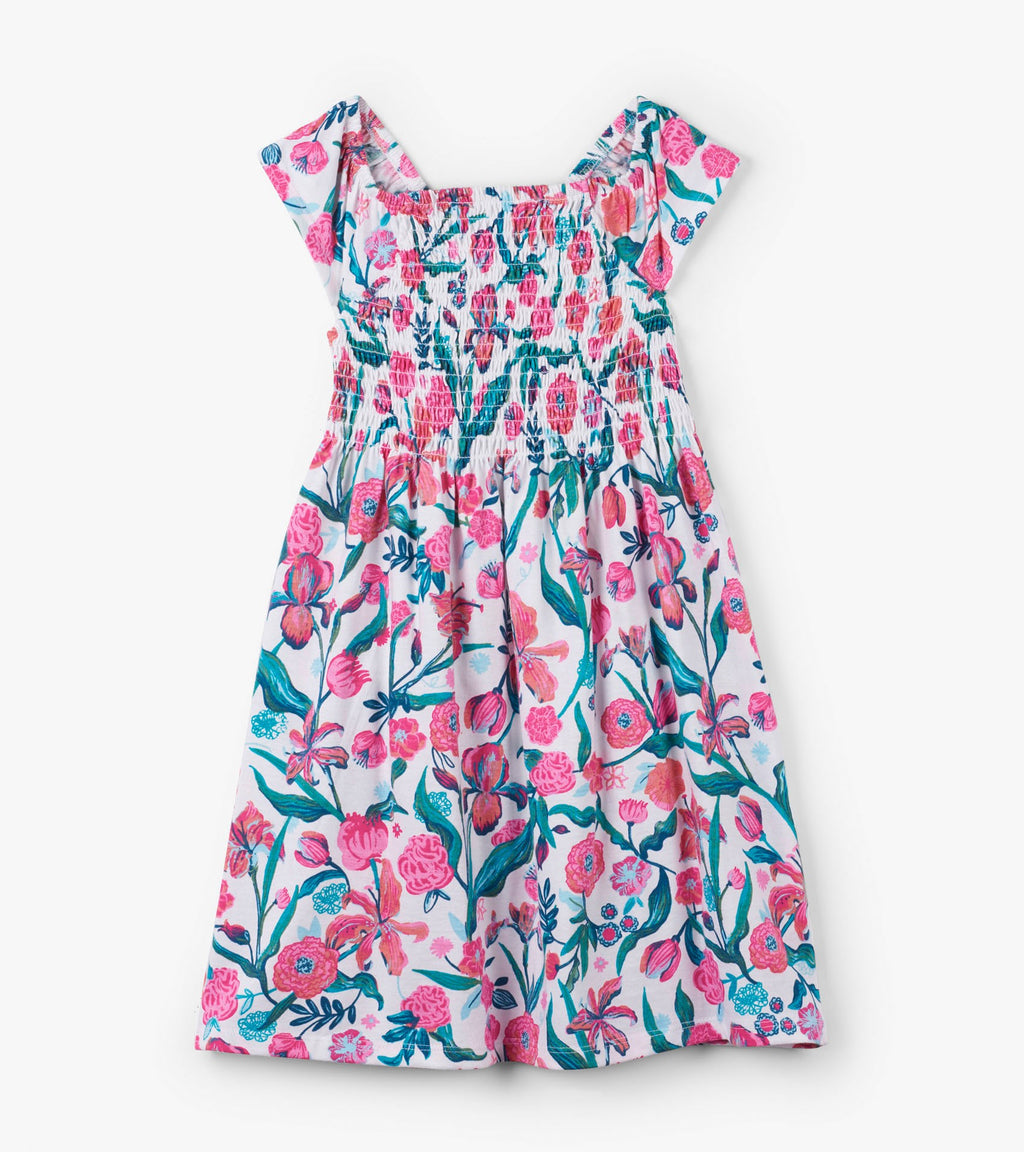 Summer Flowers Smocked Dress