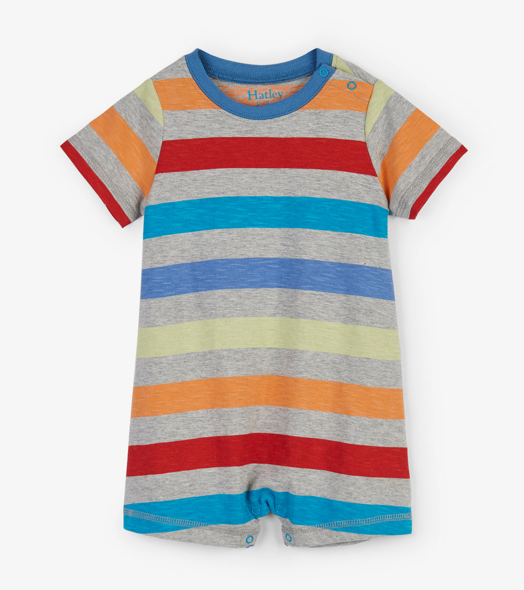 Rainbow Stripes Baby Romper
