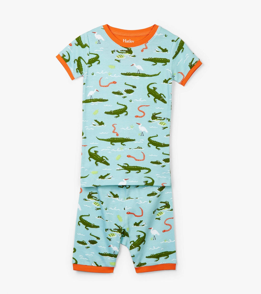 Swamp Gators Organic Cotton Short Pajama Set