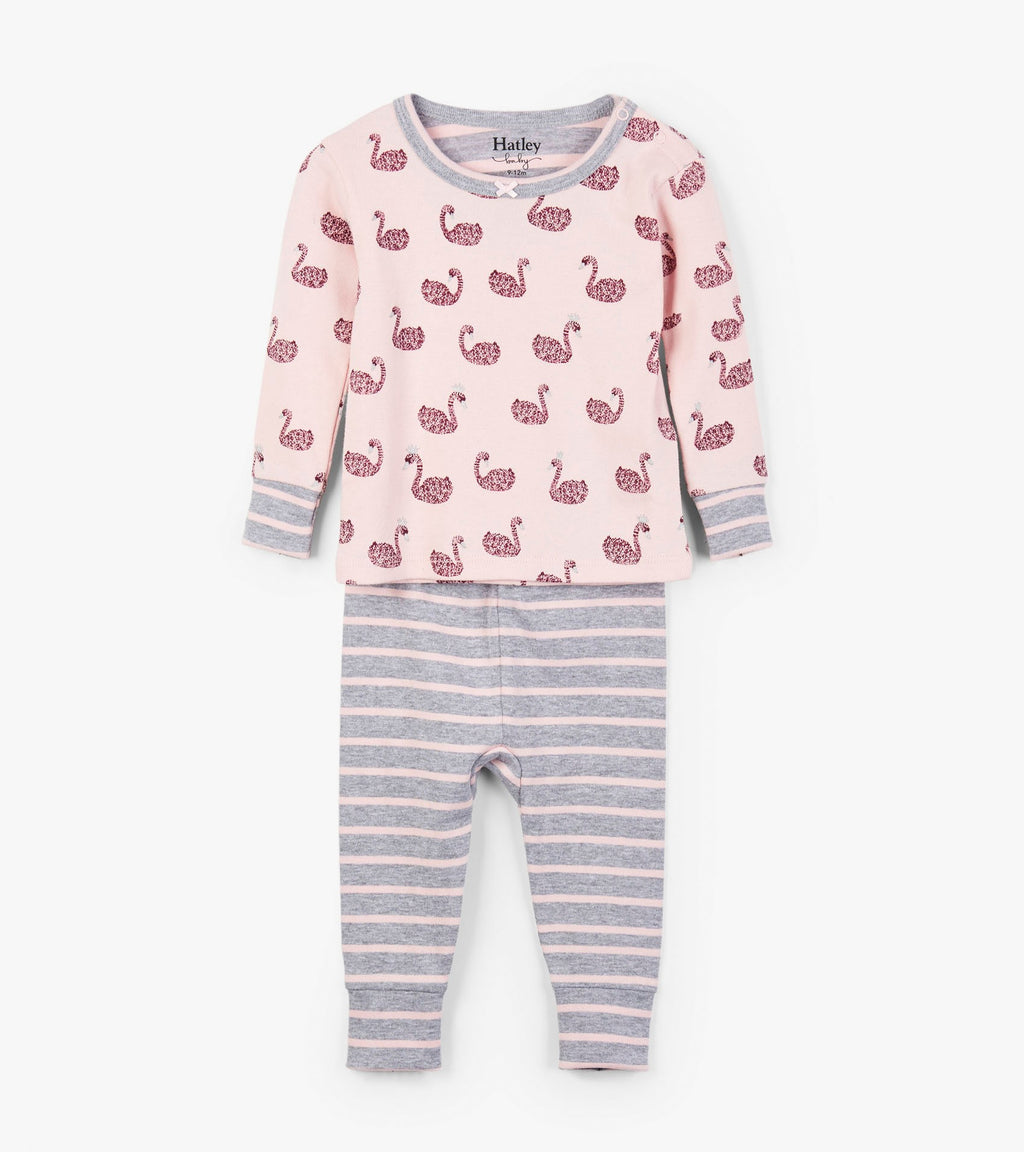 Swan Lake Organic Cotton Baby Pajama Set