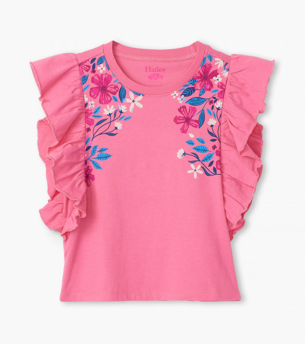 Summer Blooms Ruffle Tee