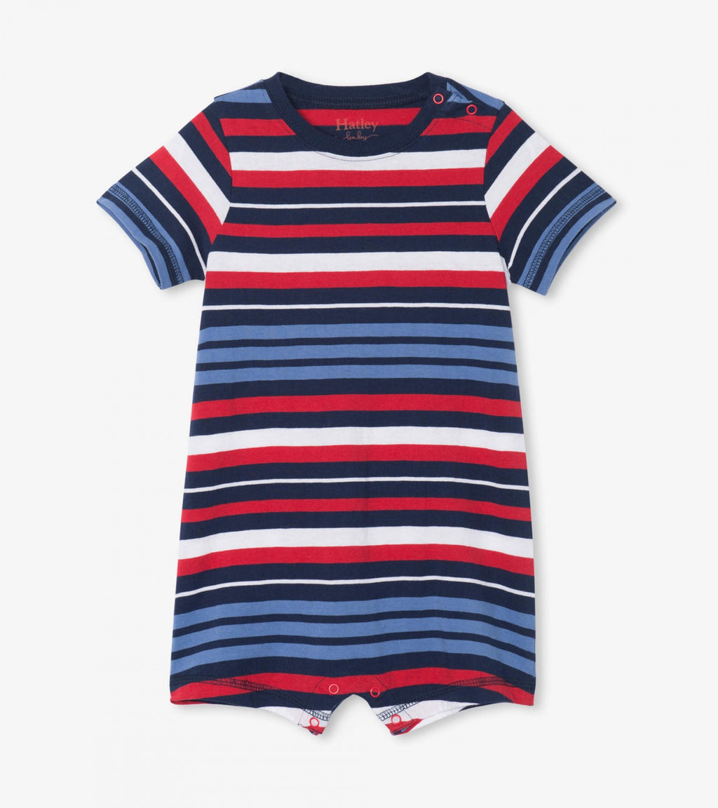 Nautical Stripe Baby Romper