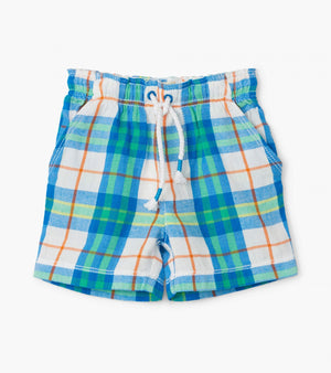 Tropical Plaid Baby Woven Shorts