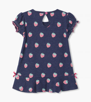 Strawberries Baby Flounce Hem Dress