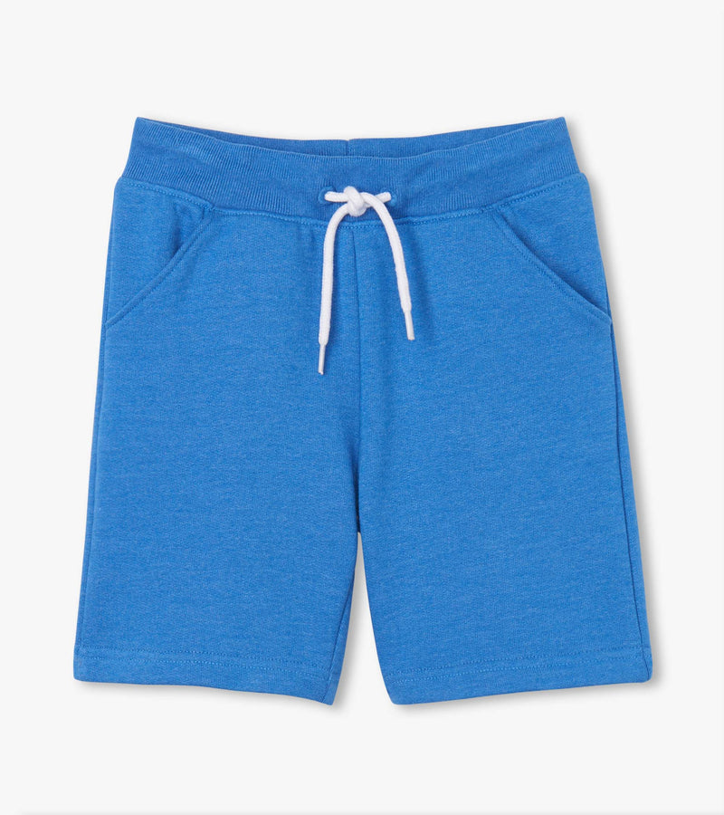 Blue Melange Terry Shorts