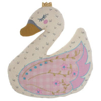 Embroidered Swan Pillow
