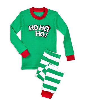 Sara's Prints HoHoHo Santa Hat Long John Pajama Set
