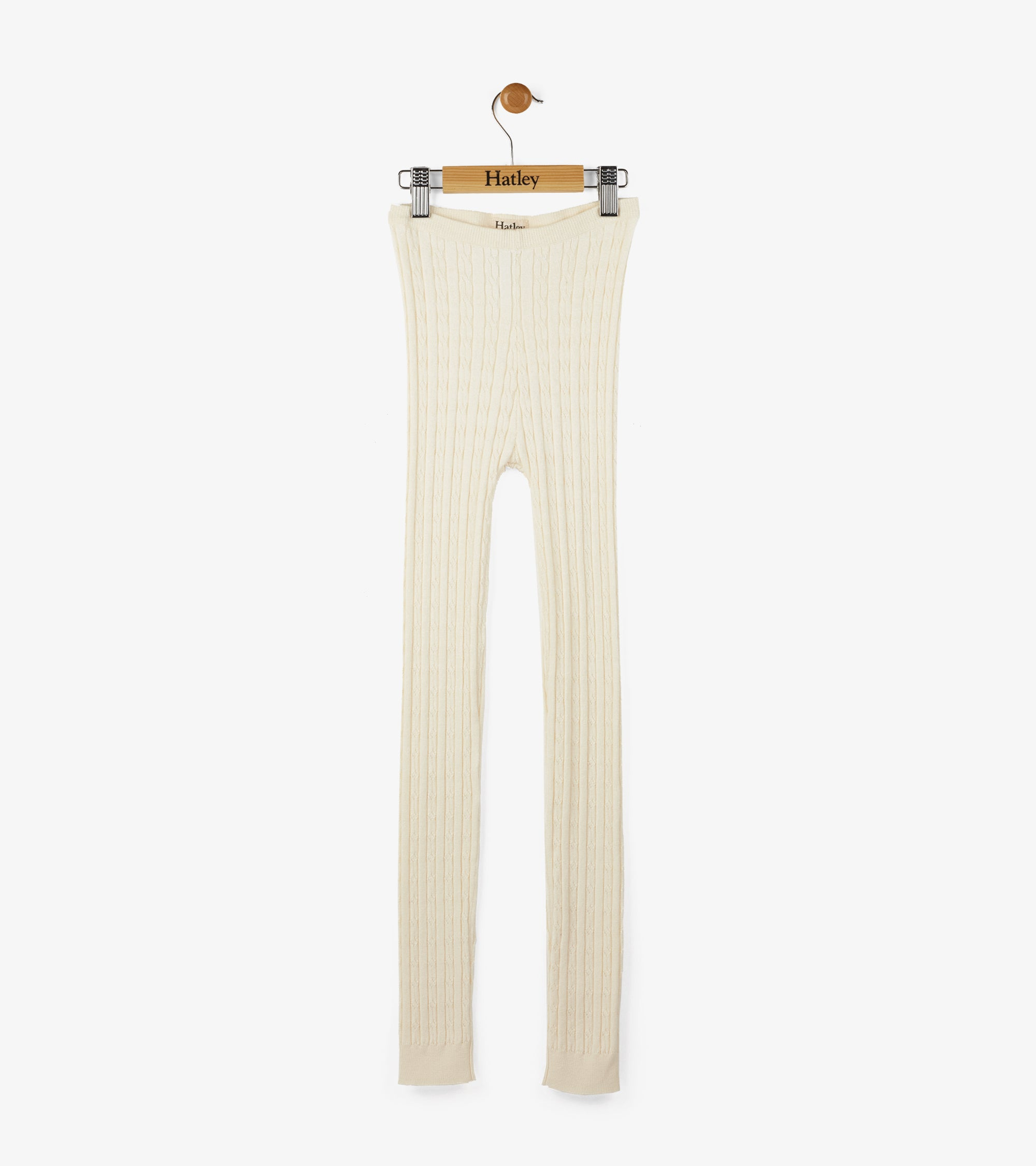Cream Cable Knit Tights