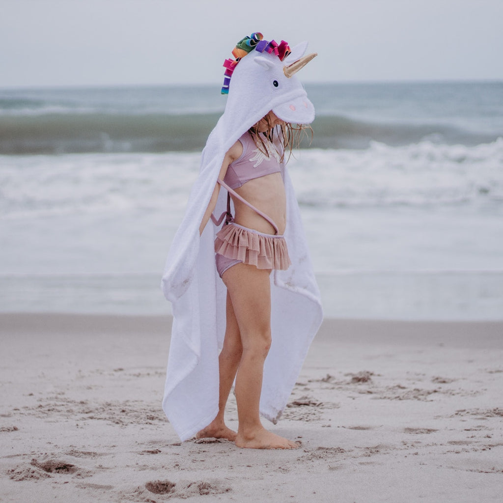 Gold Horn Unicorn Hooded Towel