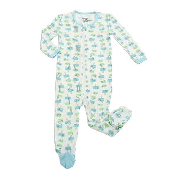 Bamboo Footies in Popsicle Print by Silkberry