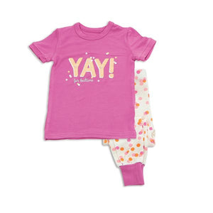 Short Sleeve Confetti PJ Set by Silkberry
