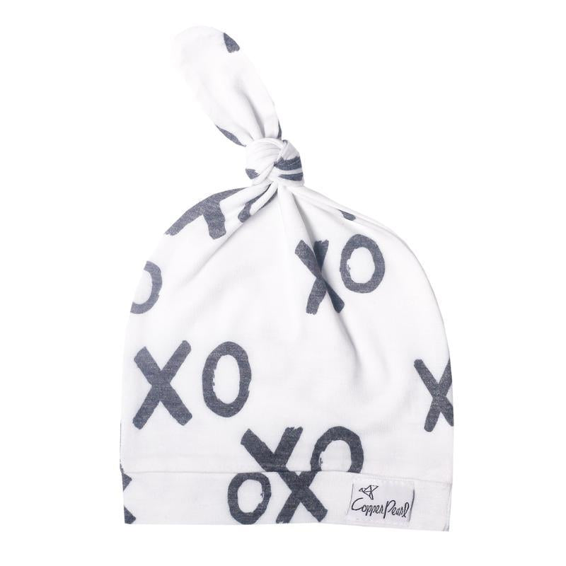 XOXO - Top Knot Adjustable Infant Hat