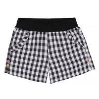 Black & White Plaid Shorts
