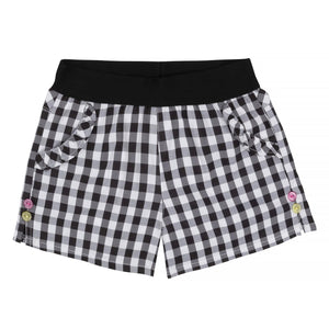 Size 6: Black & White Plaid Shorts