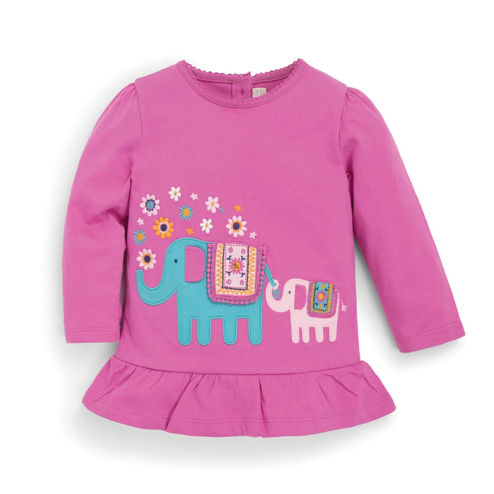 Elephant Tunic in Fuchsia