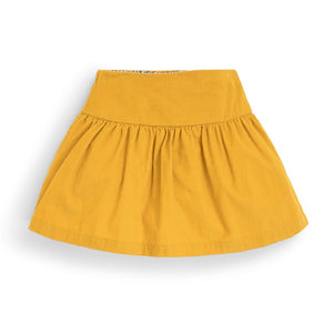 Pretty Cord Skirt in Mustard Yellow