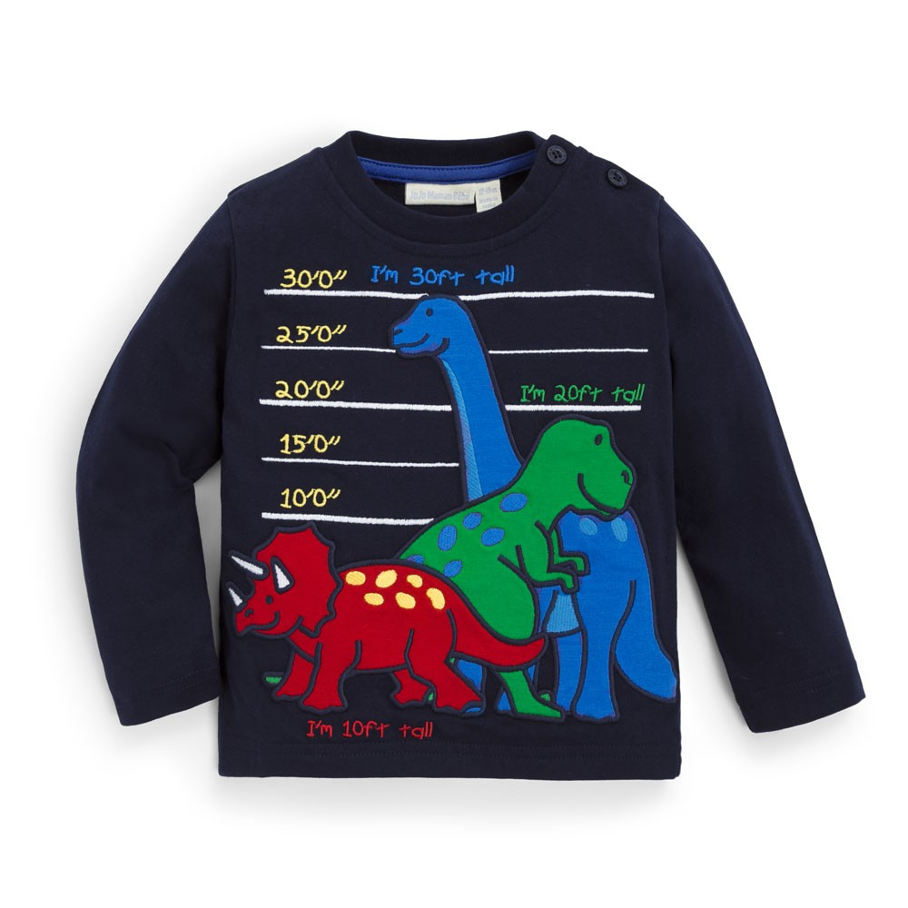 Dino Height Chart Shirt on Navy