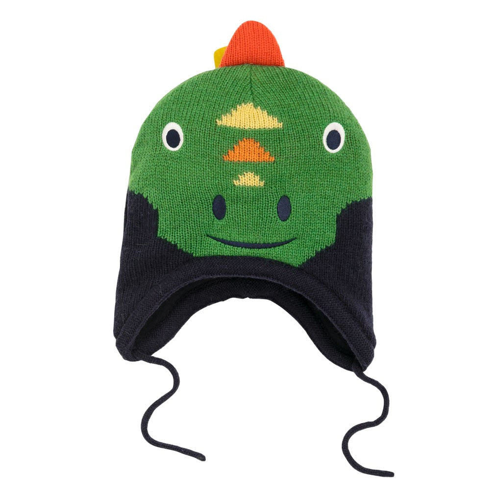 Fleece Lined Dinosaur Hat