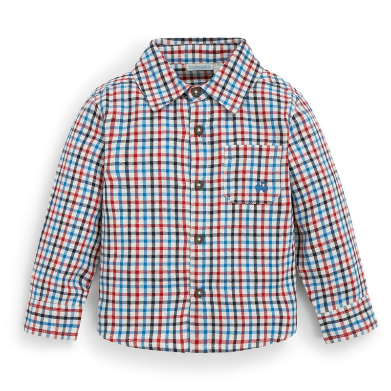 Red & Blue Button Down Shirt
