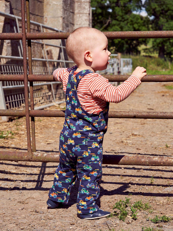 Tractor Print Dungaree Set