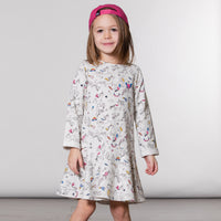 24 month: Heather Grey French Terry Unicorn Dress